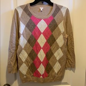 J Crew Argyle Sweater